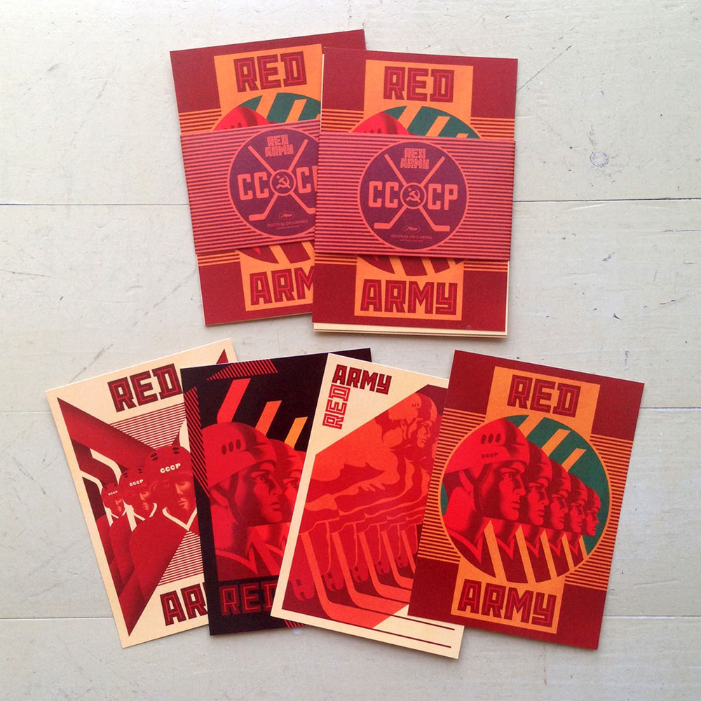 Red Army  promotional postcards
