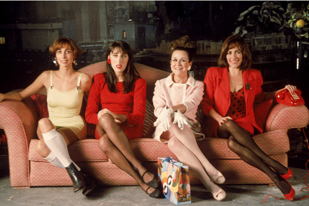 Marisa Paredes, Rossy de Palma, Julieta Serrano and Carmen Maura in  Women on the Verge of a Nervous Breakdown  (1989)