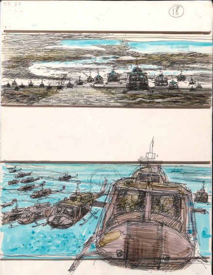 Storyboard from Apocalypse Now