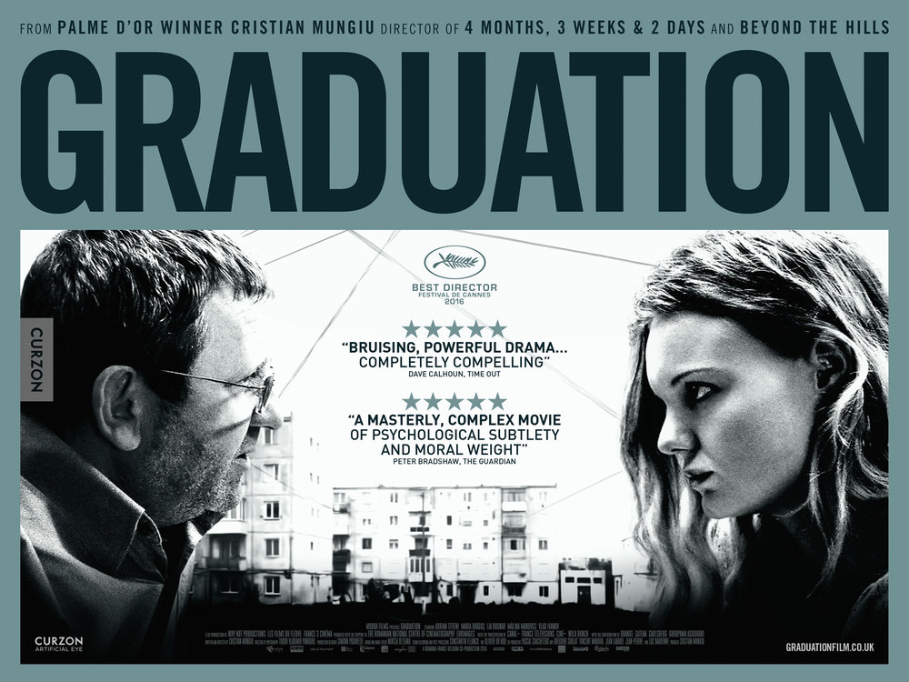 The official UK poster for Graduation - Curzon Artificial Eye