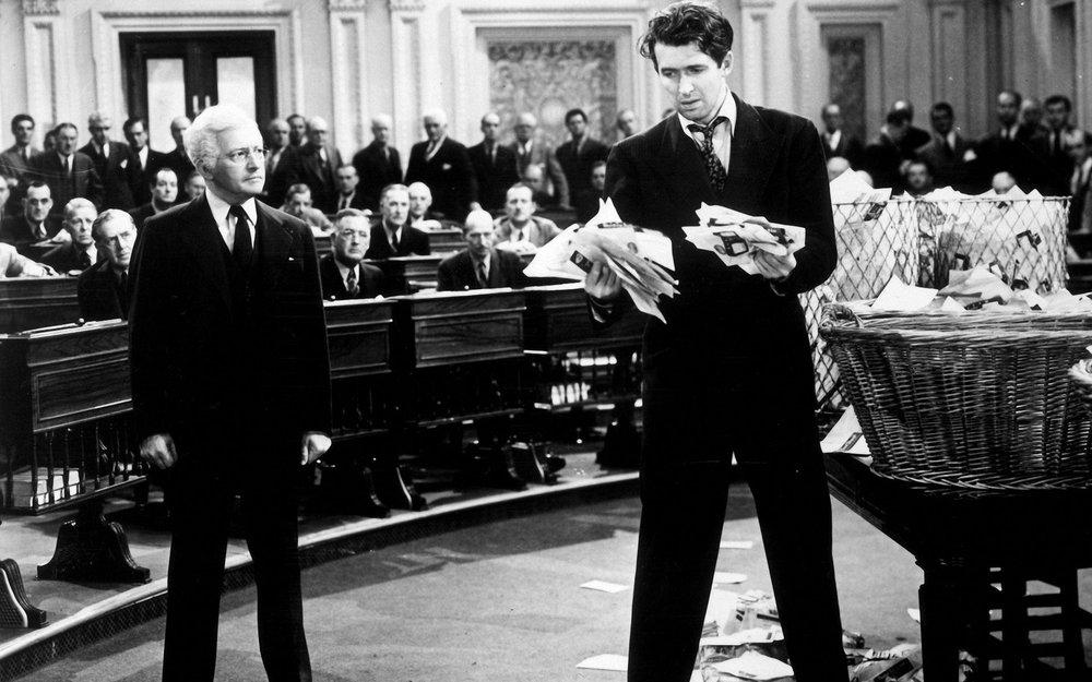 James Stewart on the Senate floor in 'Mr. Smith Goes to Washington'