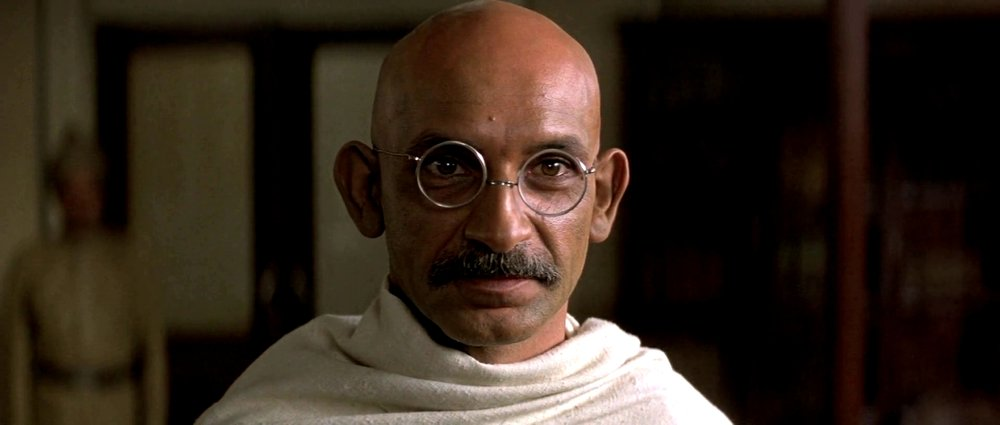 Epic biopic Gandhi (1982) starring Ben Kingsley