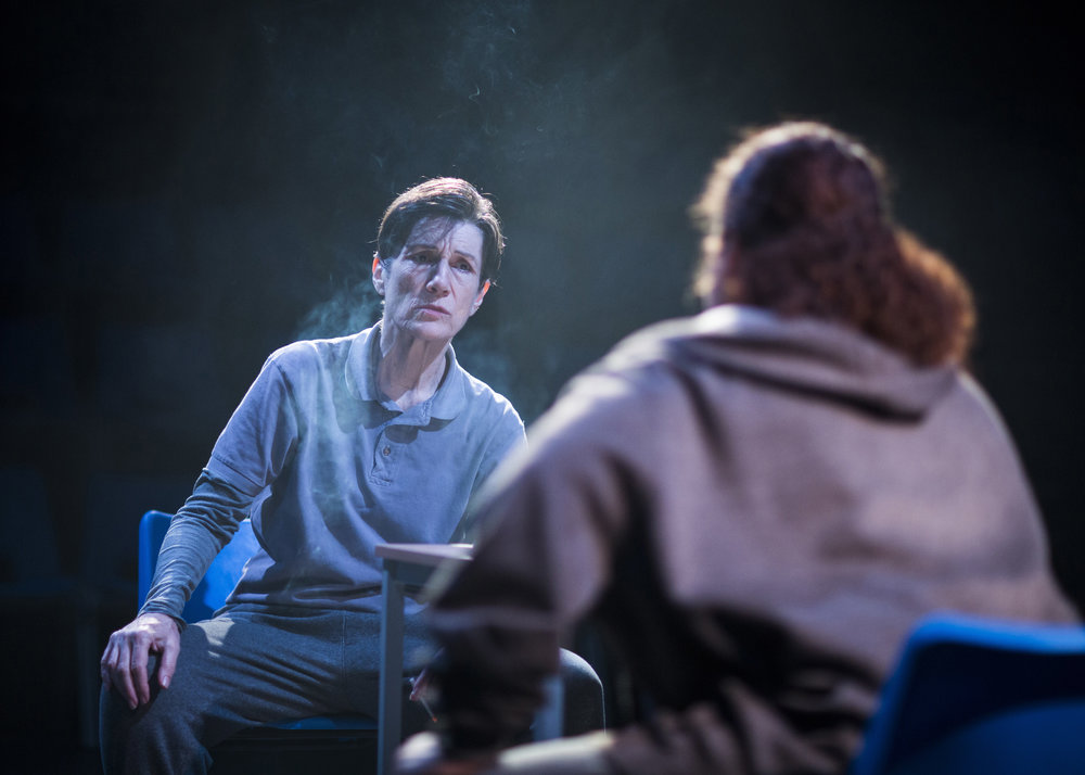 Harriet Walter as Brutus in the Donmar  Julius Caesar