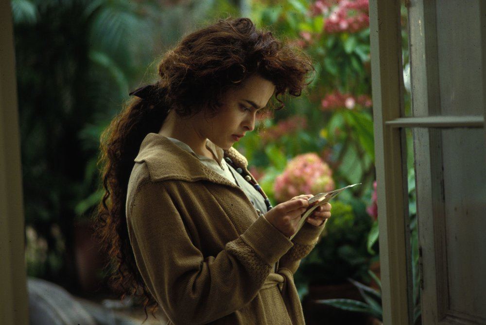 Helena Bonham Carter as Helen Schlegel in Howards End