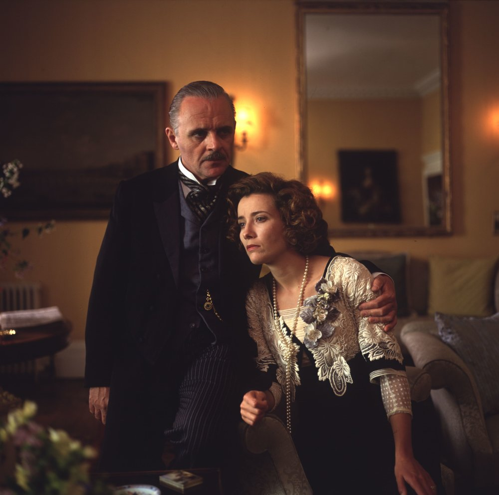 Emma Thompson as Margaret Wilcox (nee Schelegel) with Anthony Hopkins as Henry Wilcox