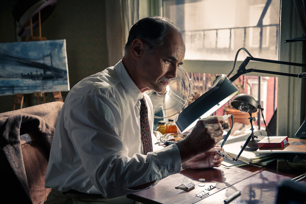 As Rudolf Abel in Steven Spielberg's  Bridge of Spies  (2015)