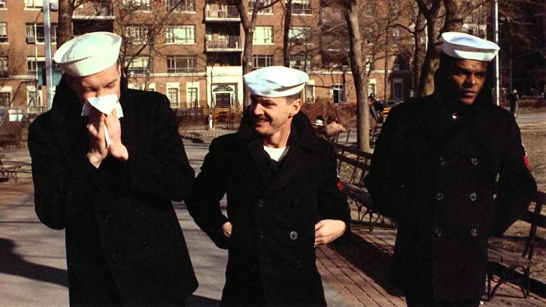 Randy Quaid, Jack Nicholson and Otis Young in Hal Ashby's  The Last Detail  (1973)