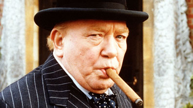 Albert Finney as Winston Churchill in The Gathering Storm