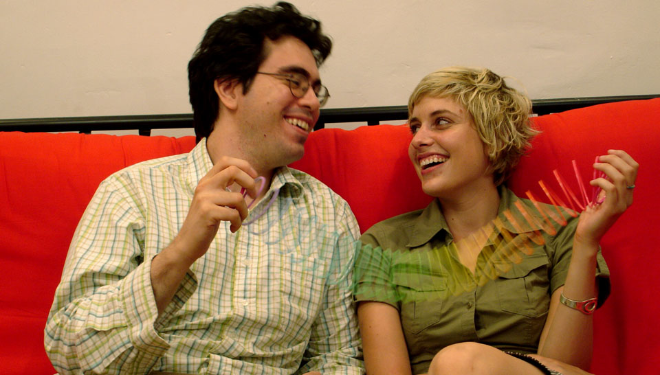 Andrew Bujalski and Greta Gerwig in  Hannah Takes the Stairs  (2007)