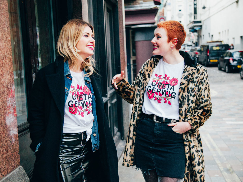 Limited edition Greta Gerwig /  Lady Bird  t-shirt from Girls on Tops X Little White Lies