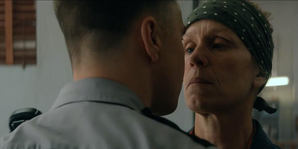 Sam Rockwell and Francis McDormand in Three Billboards Outside Ebbing, Missouri