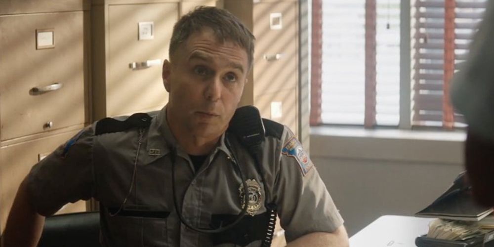 Sam Rockwell in Three Billboards Outside Ebbing, Missouri