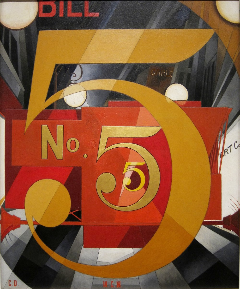 I Saw the Figure 5 in Gold, 1928, by Charles Demuth