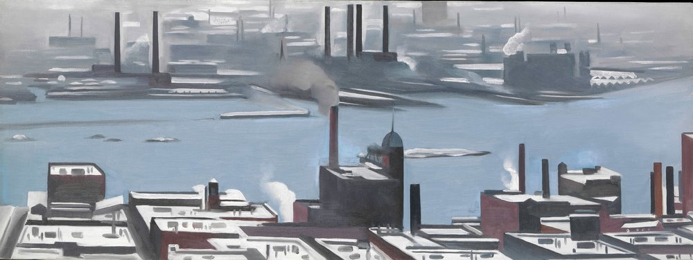 East River from the Shelton Hotel, 1928 by Georgia O'Keeffe