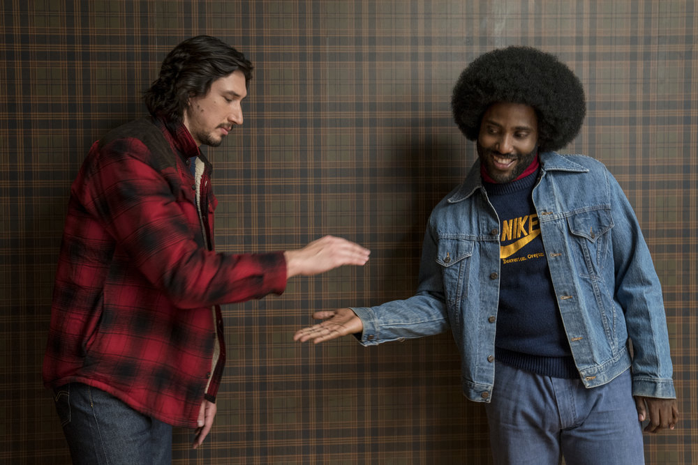 Adam Driver and John David Washington in  BlacKkKlansman (2018)