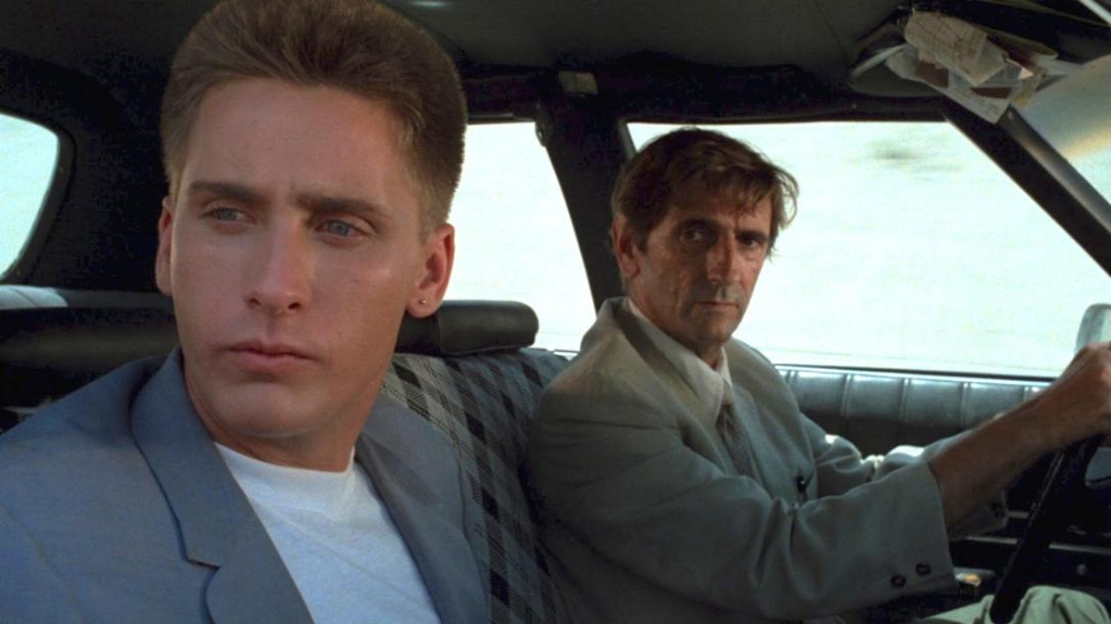 Emilio Estevez and Harry Dean Stanton in  Repo Man  (1984)