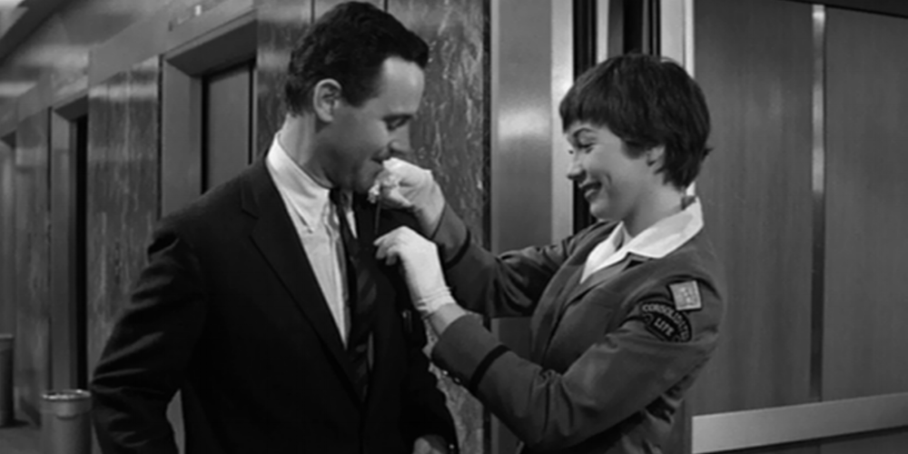 Jack Lemmon and Shirley MacLaine in  The Apartment  (1960)