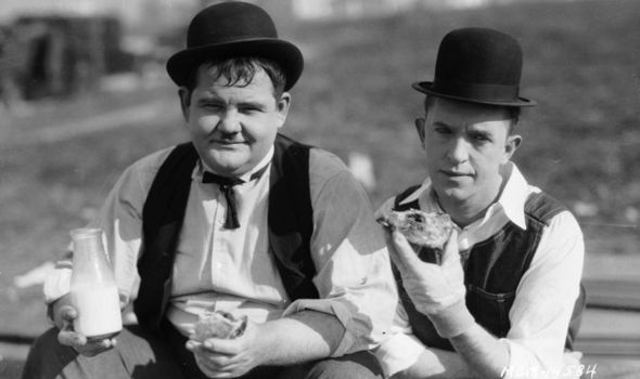 Oliver Hardy and Stanley Laurel