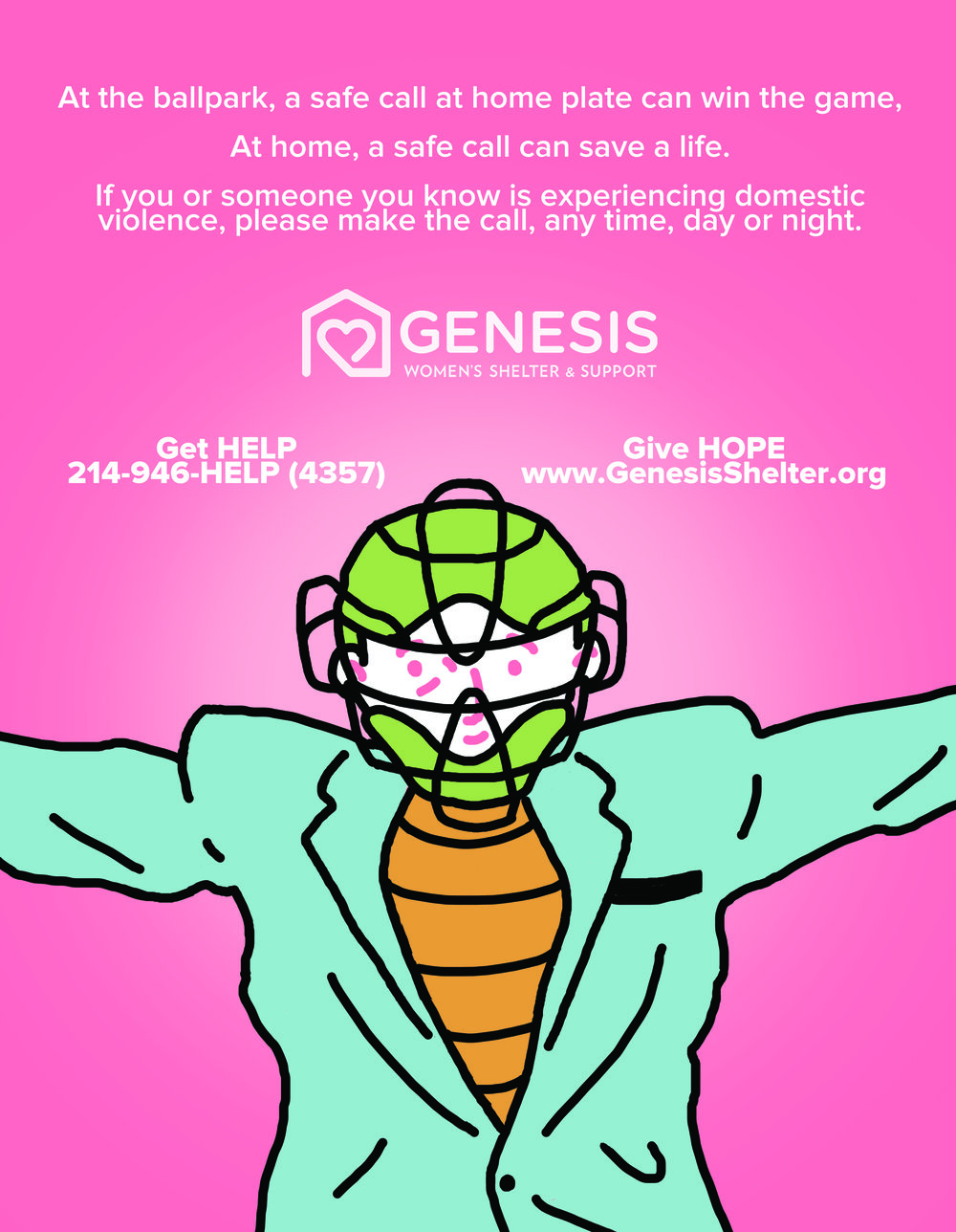 Genesis Women's Shelter Ad - Texas Rangers
