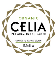 CELIA ORGANIC CRAFT CZECH LAGER BEER CRAFTED TO REMOVE GLUTEN & VEGAN FRIENDLY
