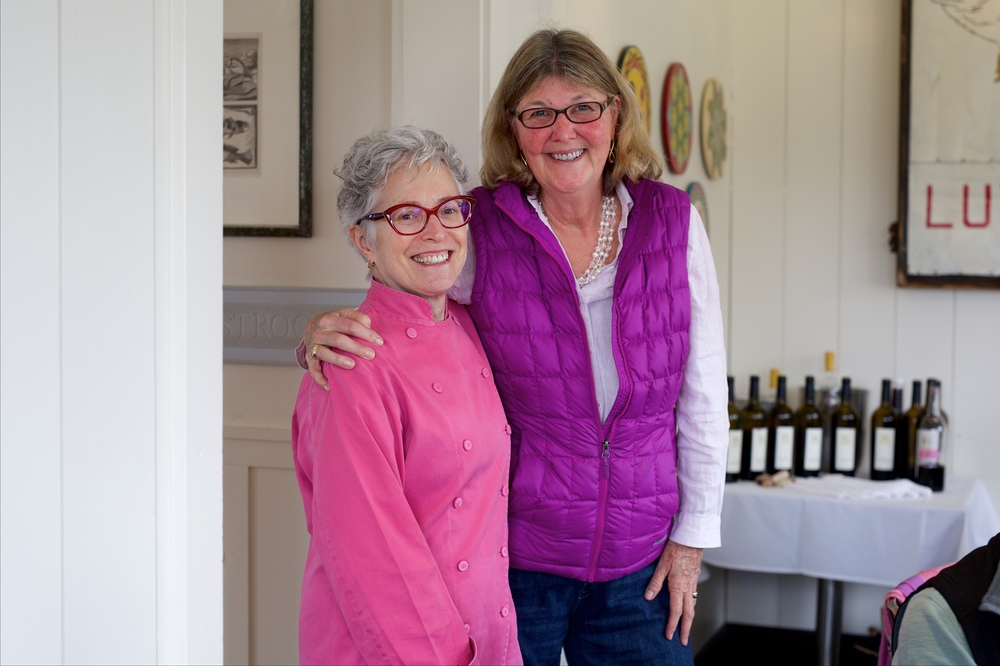 Longtime friends: Chef Cindy Pawlcyn with Jennifer Lamb.