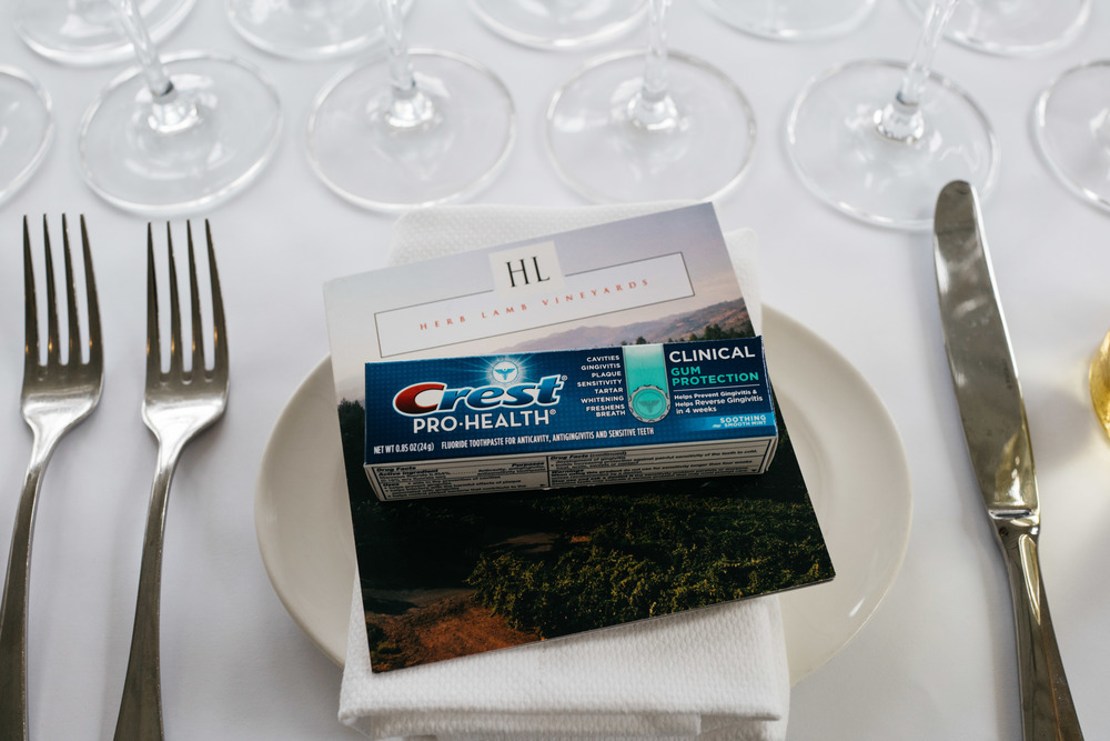 When the afternoon of wine tasting wraps, trust us — the first thing you'll want is TOOTHPASTE!