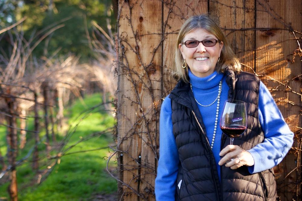 Jennifer in the vineyard. Photo by Emma K. Morris.