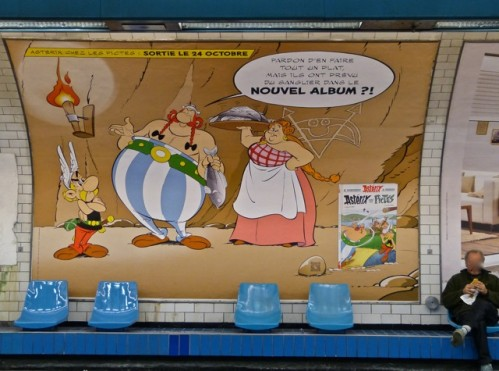 asterix in paris metro