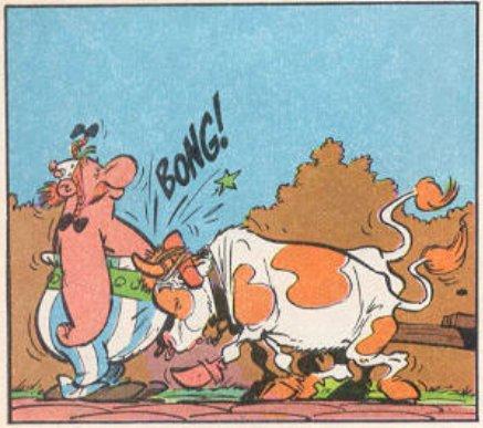 Obelix stops traffic