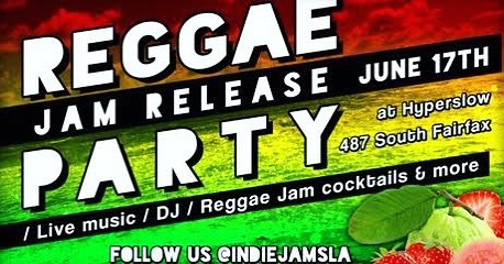 Come celebrate the release of our newest flavor Reggae Jam! @hyperslow RSVP link in bio.  #losangeles #jam #jamlife #music #indiejamsla #party