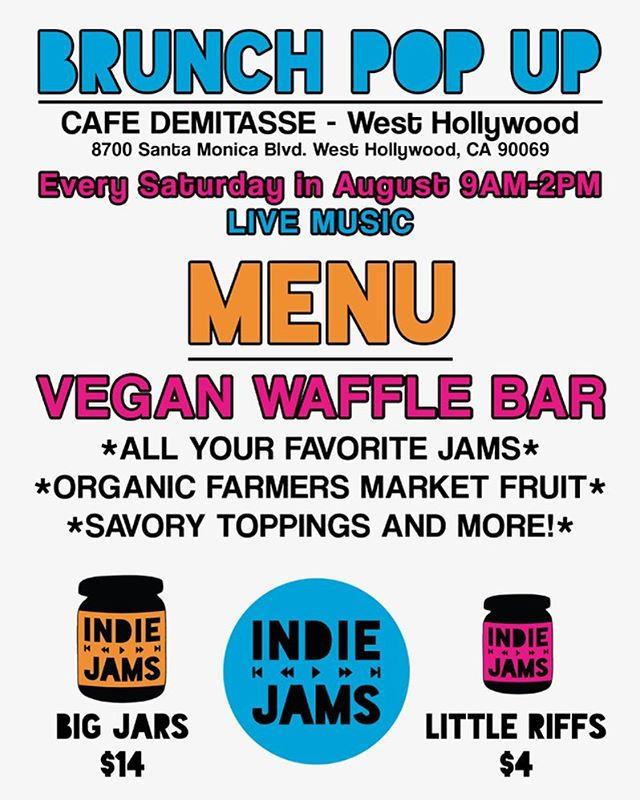 See you brunch & music lovers this Saturday at @cafe_demitasse in West Hollywood. Bring your friends and let's jam!