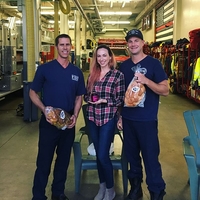 It was such a pleasure delivering Jam & @challahhub challah to the brave and hardworking firefighters of LA County. They are working nonstop to protect our home and they deserve some love! Thank you to all the customers that donated food- we all have so much we can give to each other if we make a little effort. ❤️