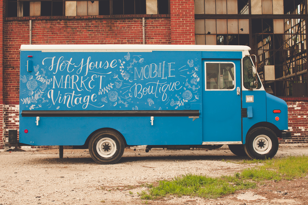 Hand Drawn Chalk Lettering | Hot House Market Mobile Fashion Truck