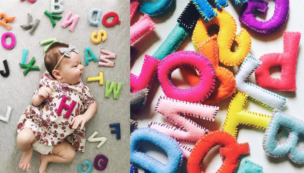 Handmade Felt Letters