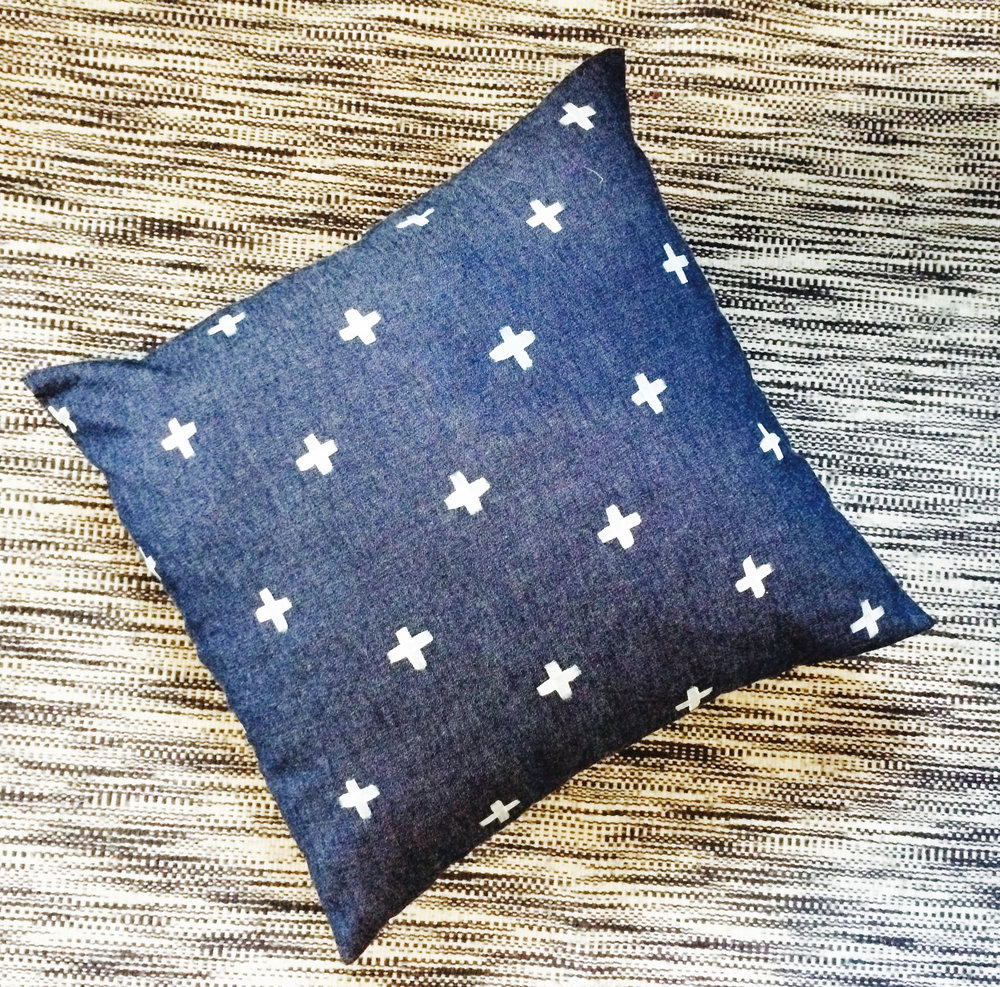 Hand-Painted Pillow