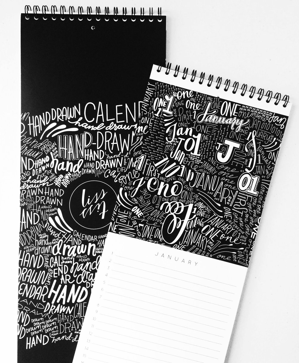 Hand-Lettered Birthday Calendar