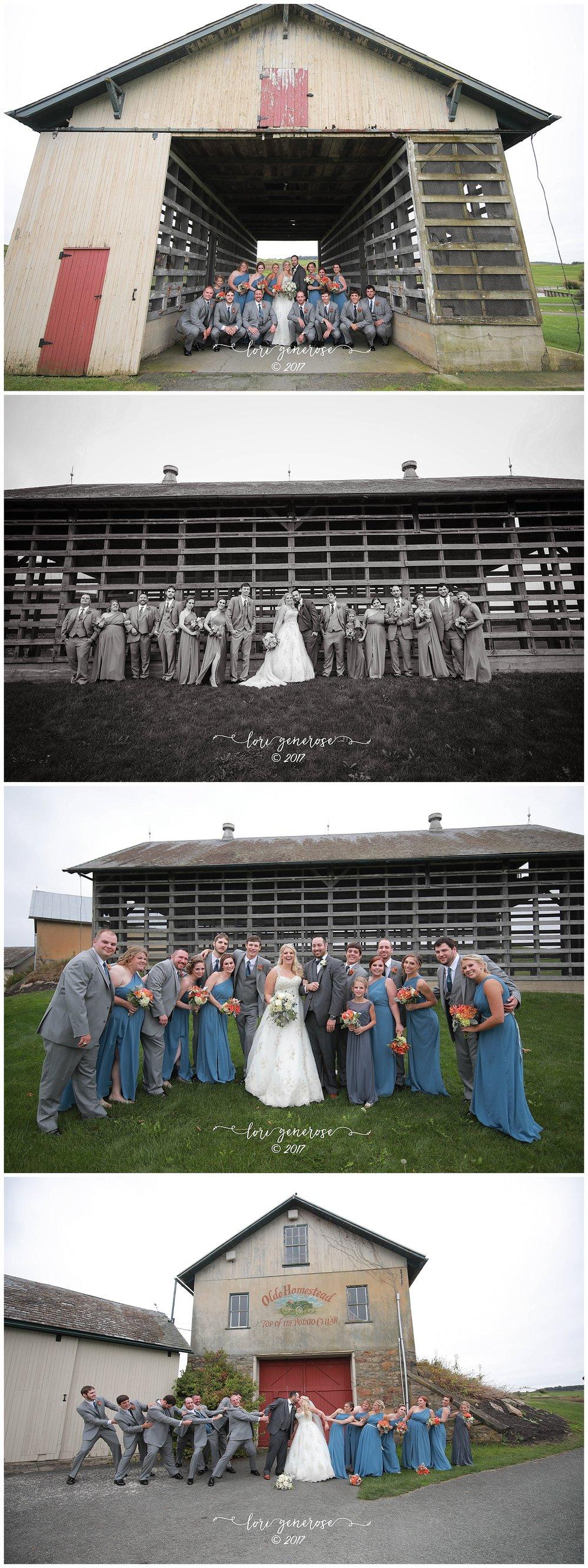bridalpartyinbluedressesandgraytuxedosbarnphotosatoldehomesteadgolfclubfallwedding.jpg