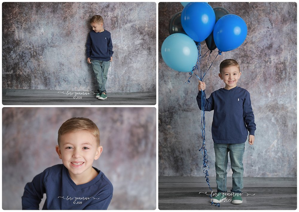 My man Leo. FIVE!!!! Such a fun little man. I've loved his annual birthday picture time since he smashed his cake in my basement here at home 💙