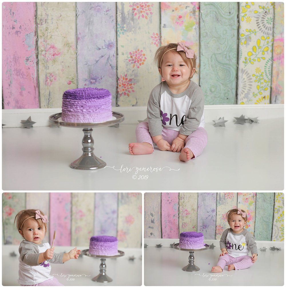 Baby Dawsyn is ONE!!! 💜 Loved her purple cake too!