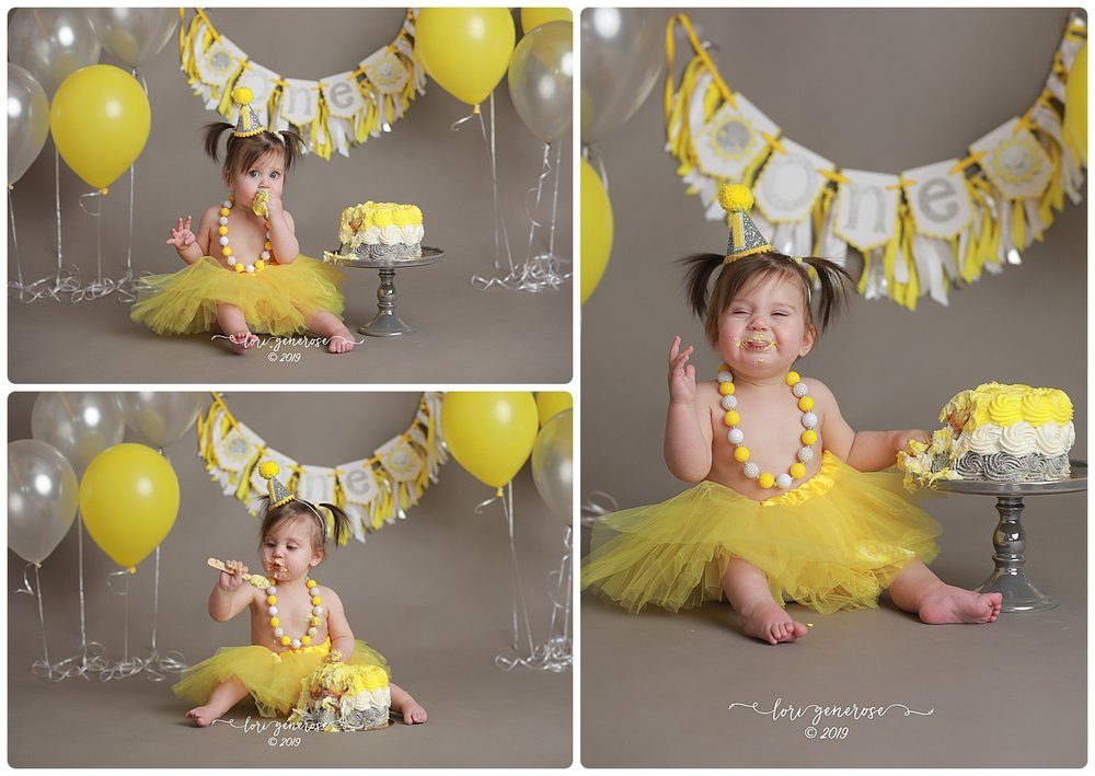 "...and THIS, my friends, is as sweet as it gets! Raegan, your features are stunning and your personality makes everything 100 times better! Happy birthday sweet baby girl! Her ""Rae Of Sunshine"" cake smash was too sweet to not do a full blog...  check it out here ! 💛"