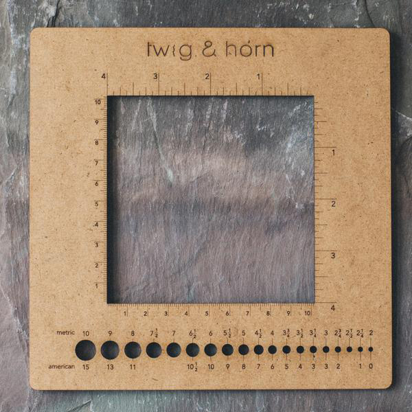 Square gauge ruler