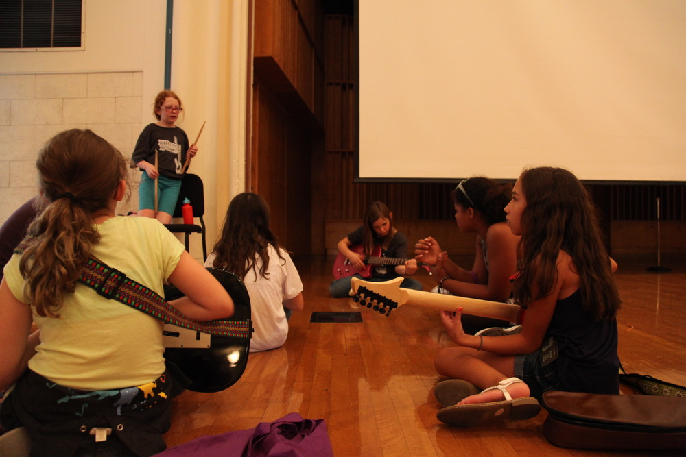 Campers practice in Clara Thompson Hall.