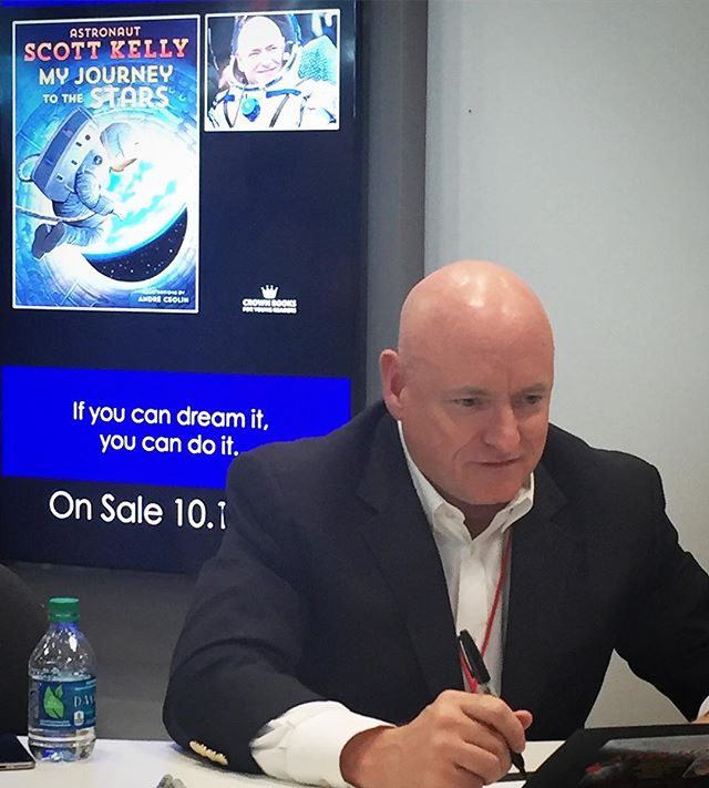 Astronaut @stationcdrkelly at a @bookexpo signing for his upcoming release.  Can't wait.