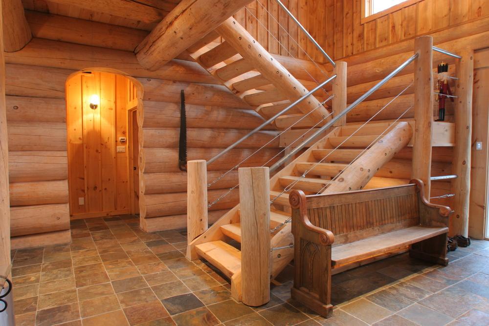 High Quality ... Log Stairs ...