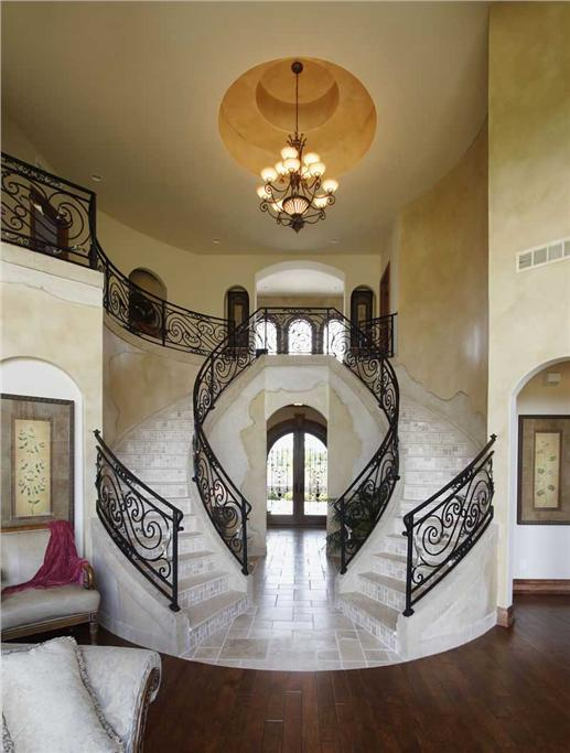Stairhaus inc custom stair design and construction for Double curved staircase