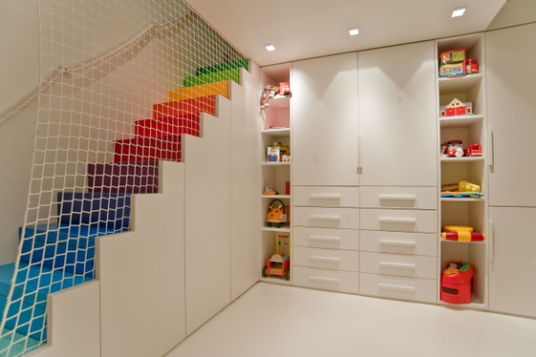 decoration-interior-well-liked-kids-basement-playroom-ideas-with-rainbow-step-stairs-as-well-as-charming-ceiling-to-floors-toys-cabinets-in-modern-white-interior-painted-wall-color-schemes-joyous-pla.jpg