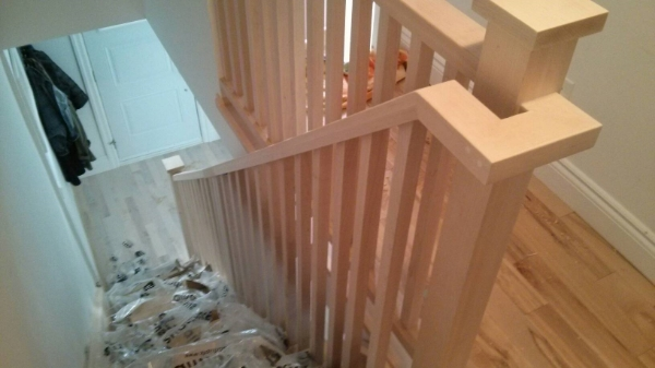 Square Profile Maple Railing