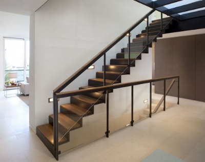 Stainless Steel Stairs Glass Railing   Aay Emm Creations .