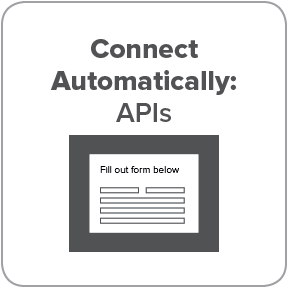 APIs connect automatically