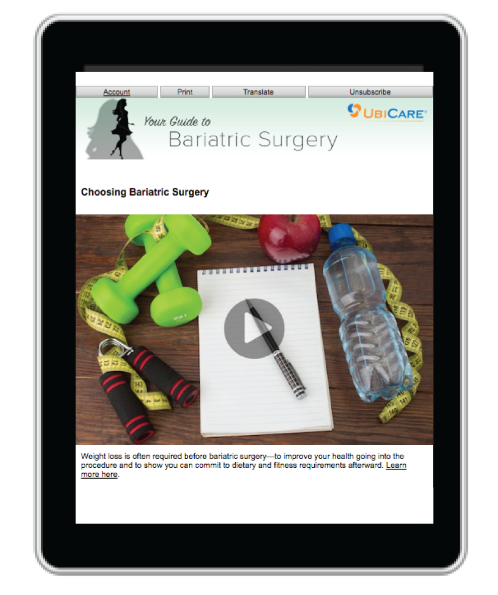 Patients receive targeted digital education  from their hospital  on any mobile device.
